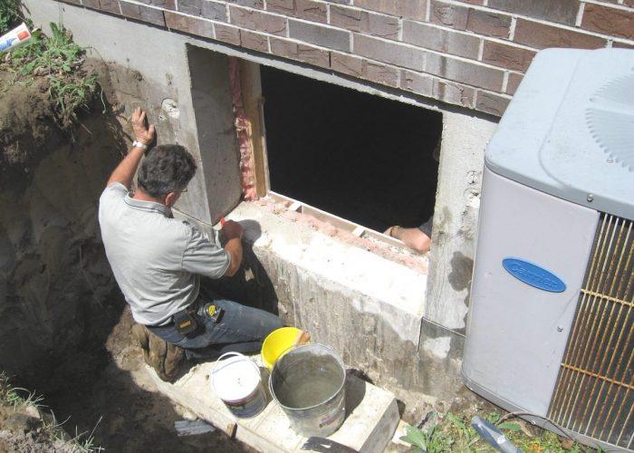 basement window replacement Stephenson Windows 7